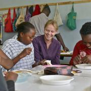 Cindy Walker im Einsatz in Kenia